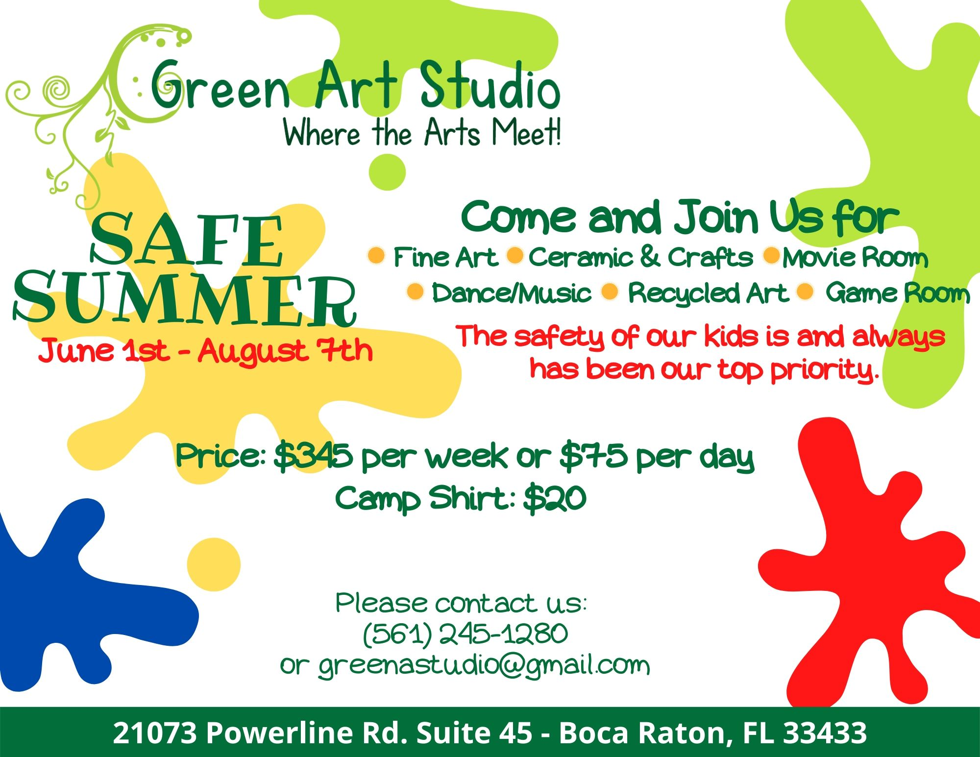 Green A Studio Flyer Summer